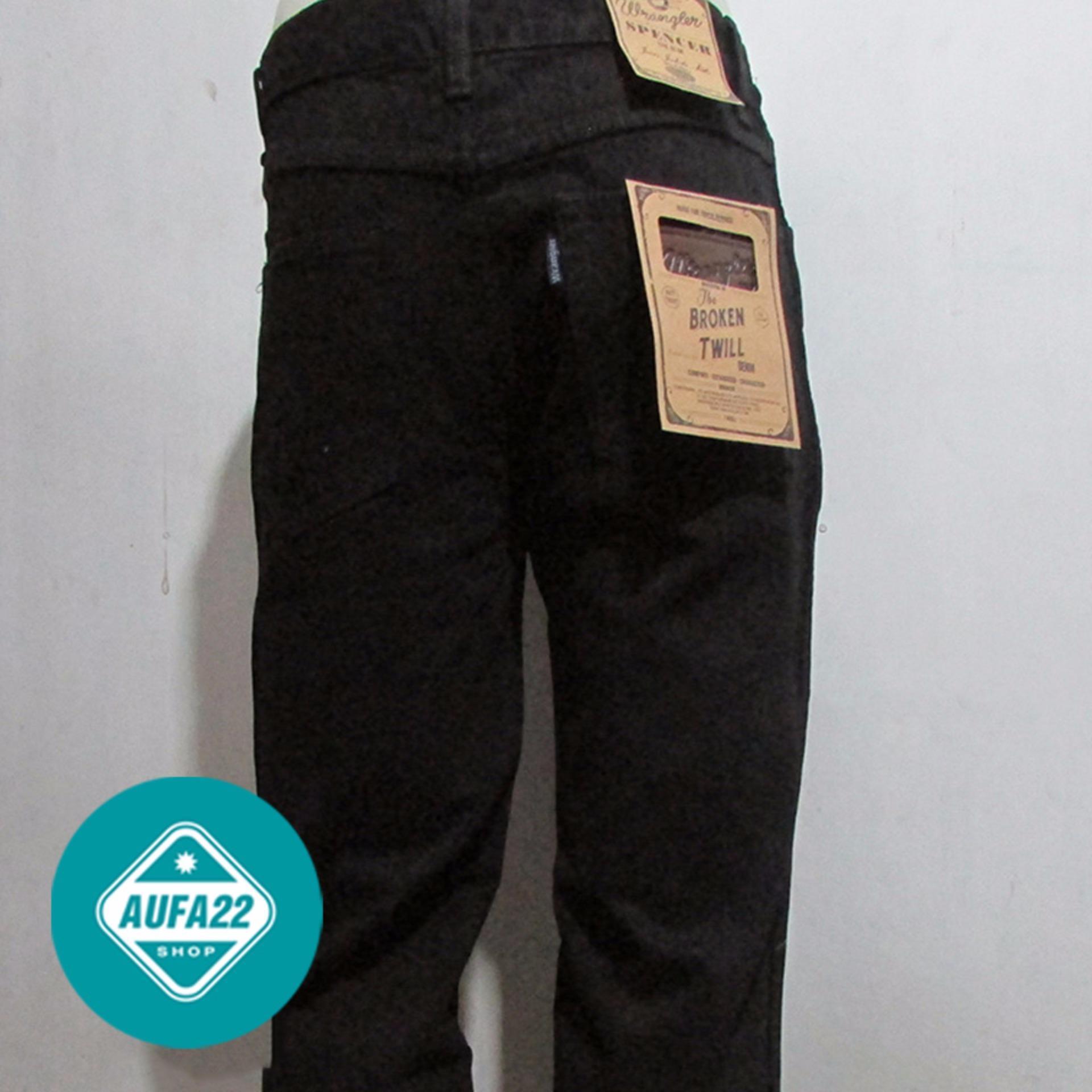 Celana Jeans WRANGLER Hitam-Black Original Regular Standar Promo Murah