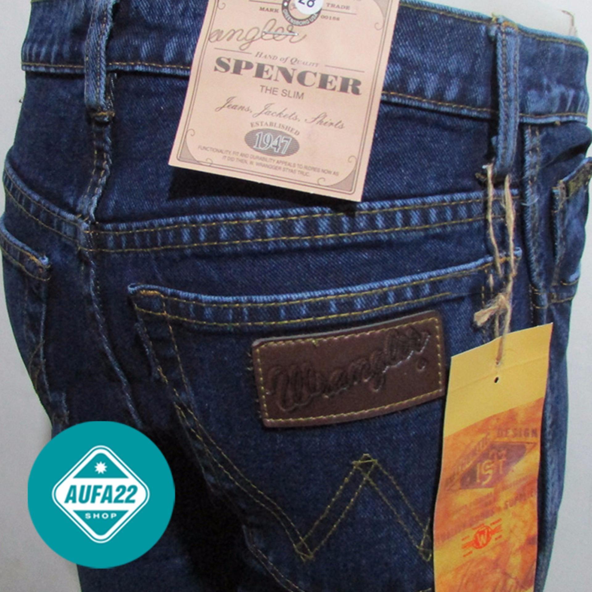 Celana Jeans Wrangler Biowash - Biru Gelap Premium Regular Fit Basic Standar Terbaru Terlaris Best Seller
