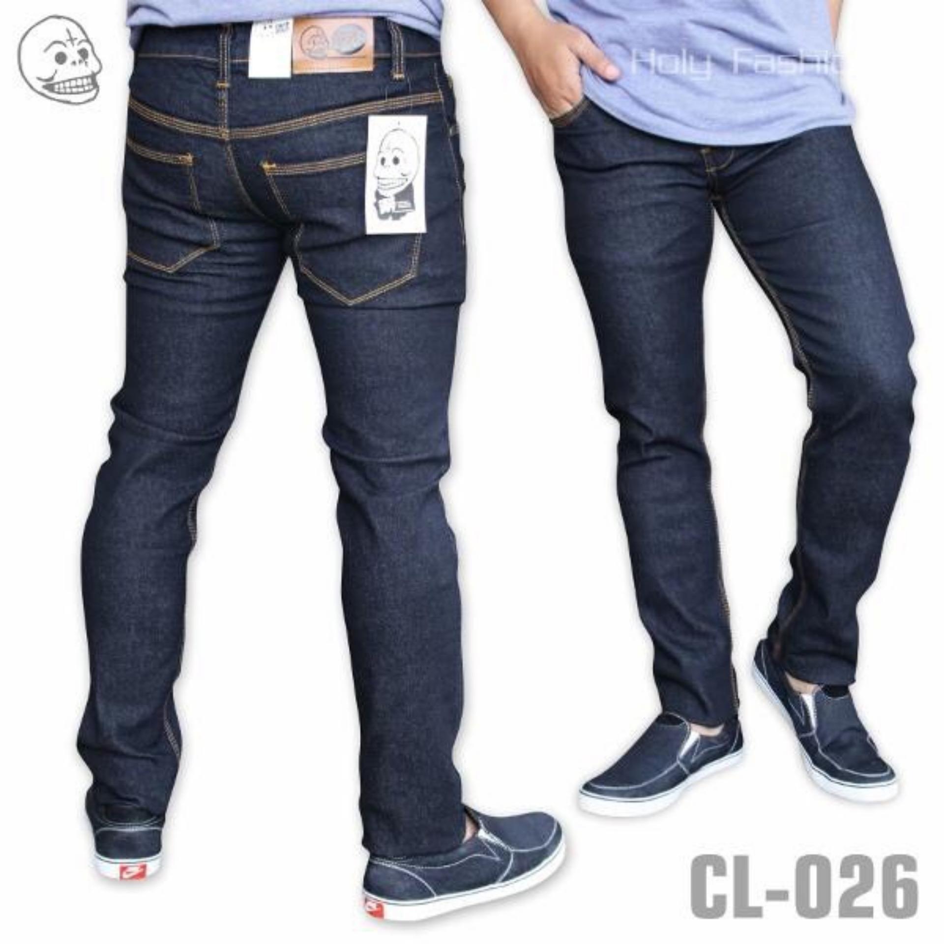 Celana PANJANG Jeans Slimfit Pria - Denim Stretch - Jeans Pensil Melar  - DONGKER