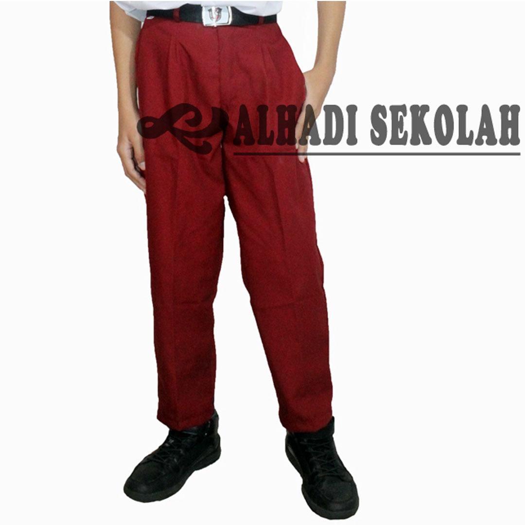 Toko Celana Panjang Merah Sekolah Sd Ukuran 27 S D 36 Celana Seragam Sekolah Cpm001 Yang Bisa Kredit