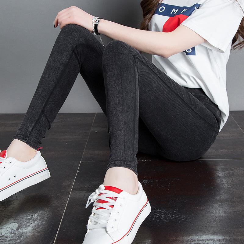 Harga Celana Pensil Wanita Versi Korea Pas Badan Kepingan Salju Hitam Baju Wanita Celana Wanita Baru