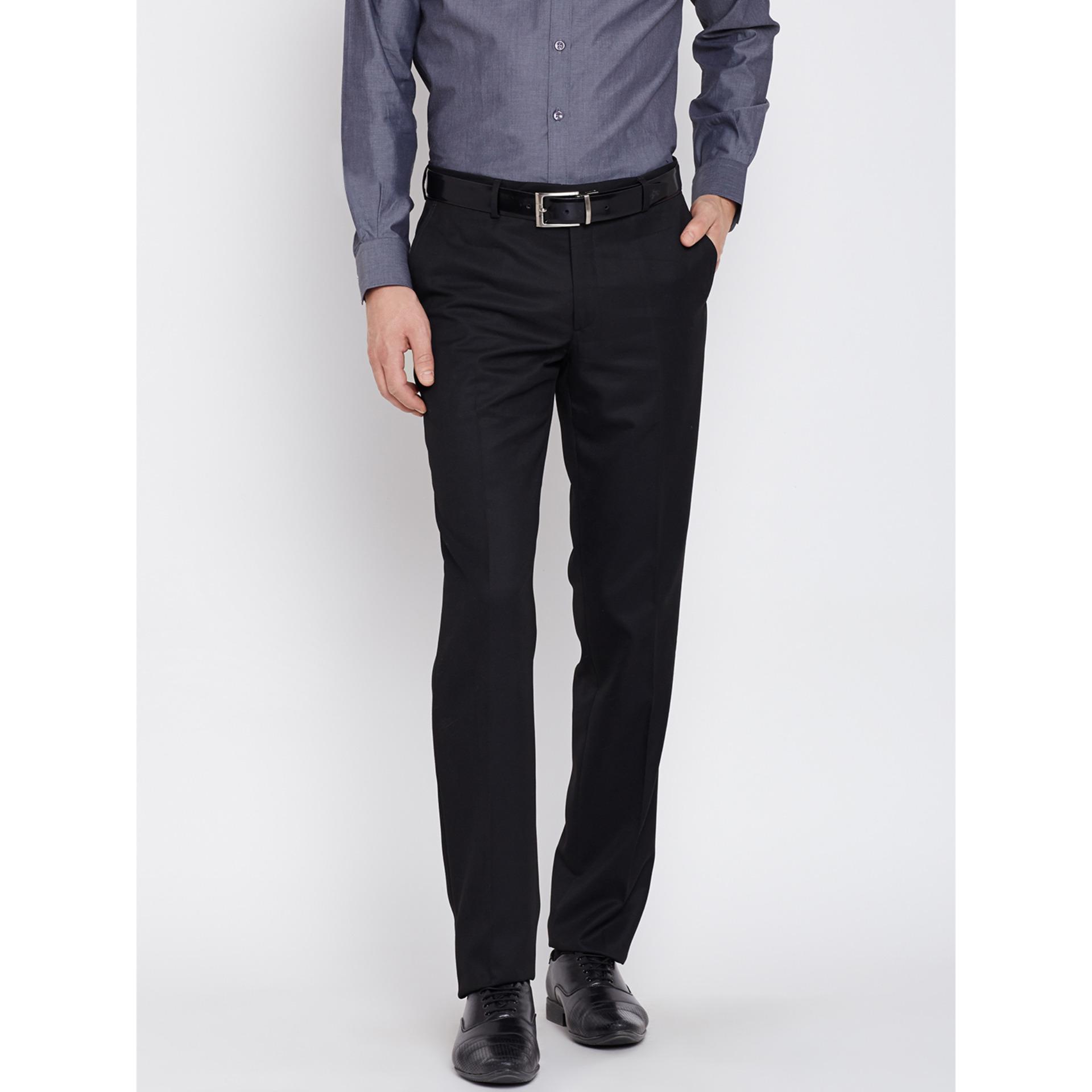 Jual Celana Pria Kerja Kantor Casual Formal Modern Slim Fit Hitam Baru