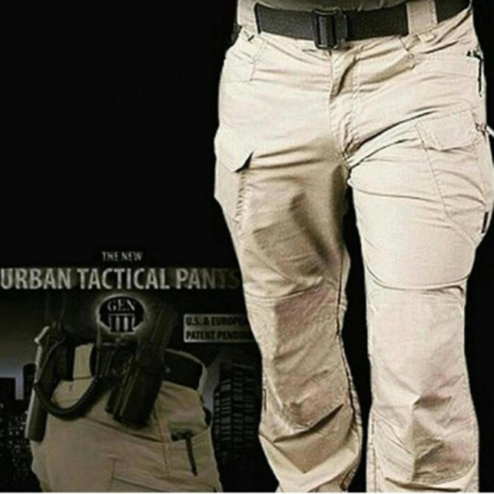 Celana Tactical Blackhawk Taktikal Under Armour Panjang Pria Millitary Cream