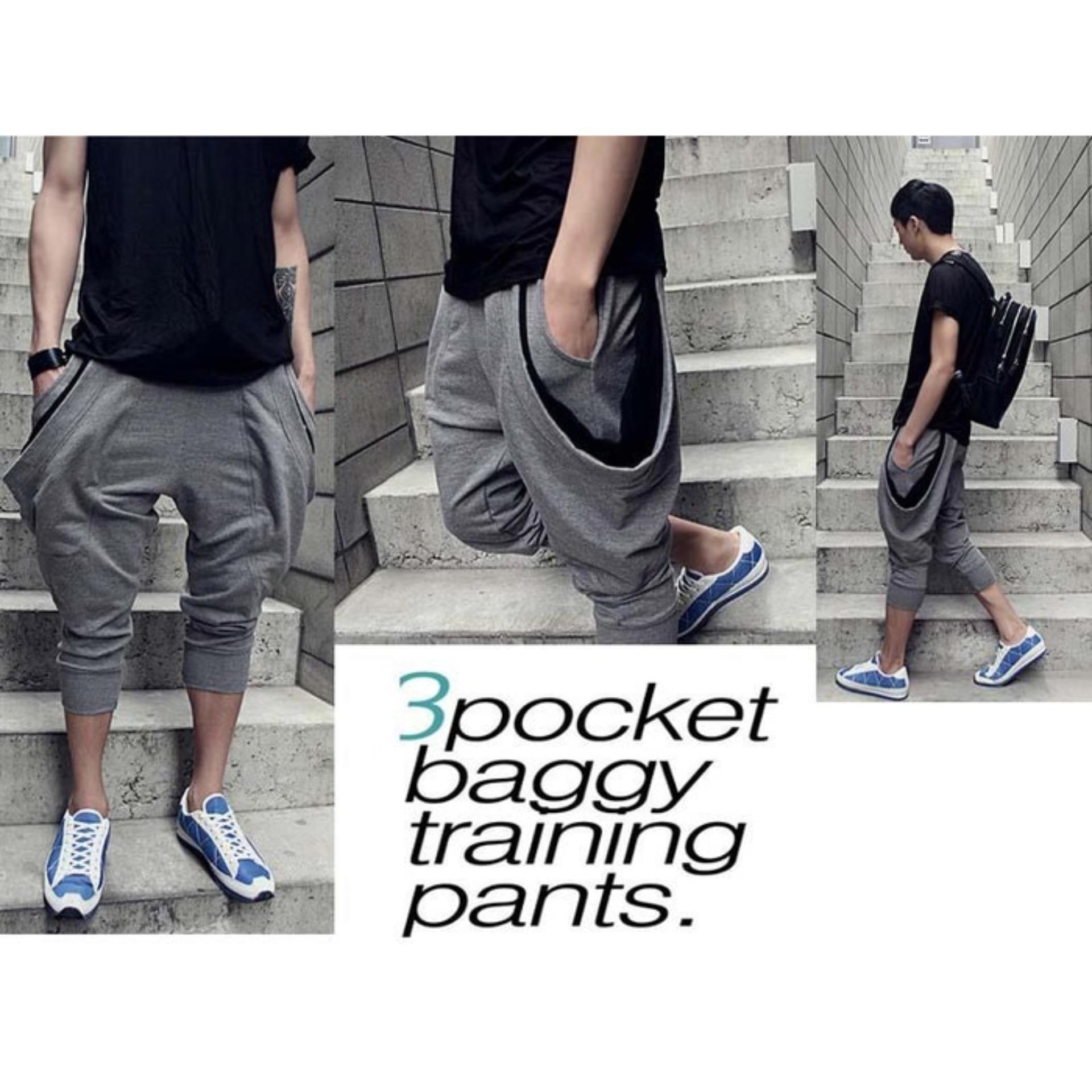 Celana Jogger Baggy Pants Sport Korean Style Pria Wanita Di Jawa Barat