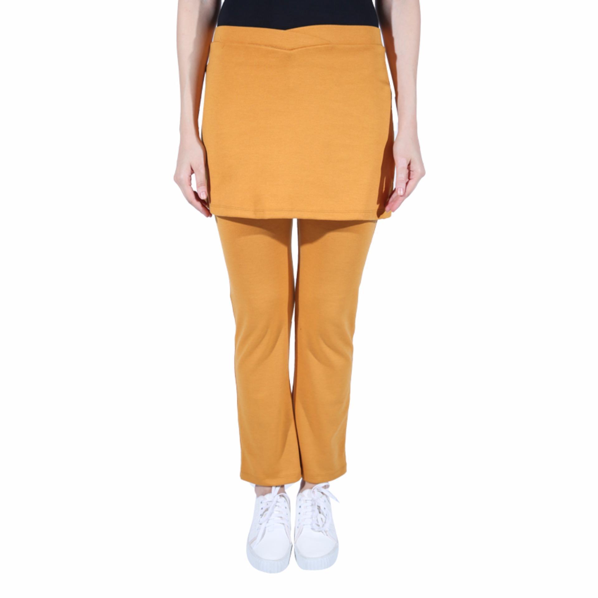 Jual Celana Senam Wanita Kuning Kunyit Online