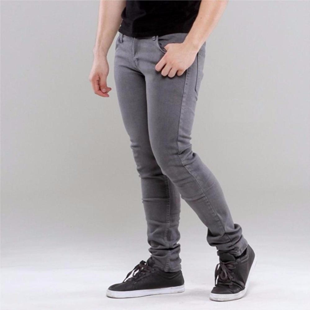 Celana Skinny Jeans Pria - Abu