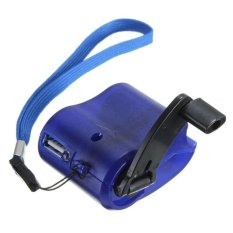Diskon Cell Phone Emergency Charger Usb Crank Hand Manual Dynamo For Mp4 Mobile Pda Blue Intl Oem Di Tiongkok