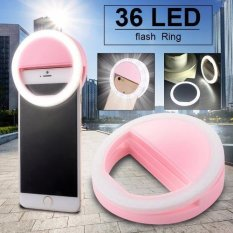 Cellphone Camera Led Ring Flash Fill Light Selfie Enhancing Dimmable Dc709 By Exindosource.