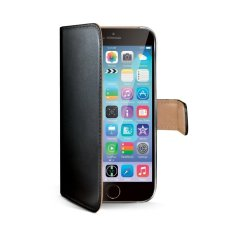 Celly PU Leather Case Wallet Model iPhone 6 - Hitam