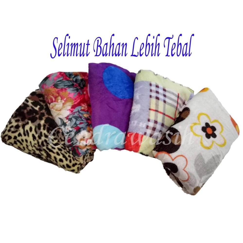 Cendra Selimut Bulu Lembut Motif Dewasa - Random uk 150x200