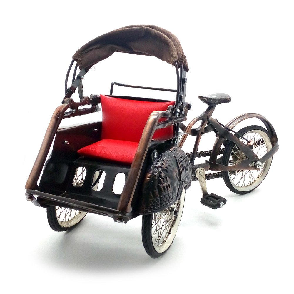 Central Kerajinan Miniatur Becak Jawa / Becak Jogja / Becak Surabaya - Coklat