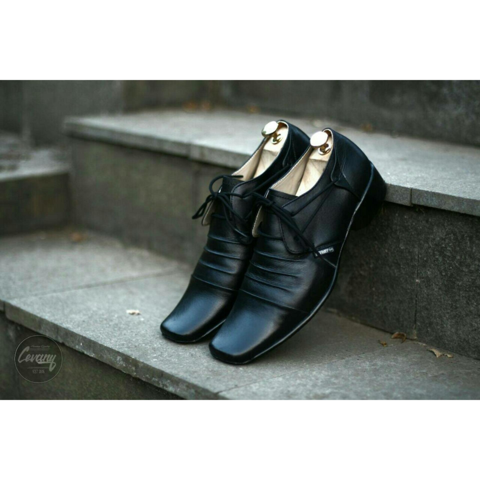 cevany footwear leather shoes man formal busines elegan sepatu pantofel kulit asli orginal premium quality (