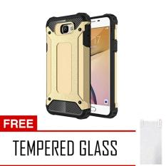 Chanel  Case Tough Armor Carbon For Samsung Galaxy J5 Prime Series - Emas + Free Tempered Glass