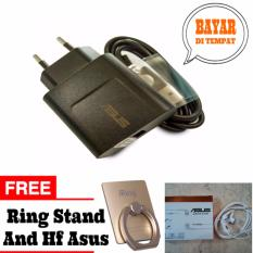 Charger Asus Original 100% Authentic Travel Charger Adapter 5v-2A-10w Original + Free I-Ring Stand + Free Hansfree Asus putih