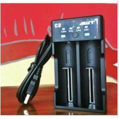 Charger AWT C2 Fast Charging - Best Charger Batre 2 Slot Vape Vapor  - Fast Charging