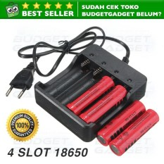 Jual Charger Baterai 18650 Battery 4 Slot Fast Charging Online Dki Jakarta