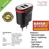 Harga Handcom Charger Hippo Nymp Micro 2 Usb 4 4A Fast Charging Hitam Garansi Resmi 1 Tahun Handcom Online
