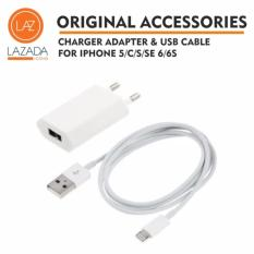 Charger Iphone & USB Cable 5/C/S/SE 6/S/S Design by Apple in California Assembled in China + ORIGINAL 100%