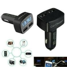 Charger Mobil 4 In 1 Dual USB 3.1A Car Charger Adapter Tegangan DC 5 V