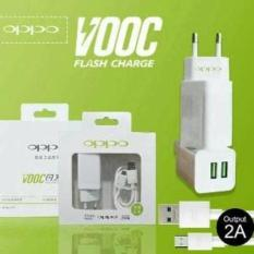 Charger Oppo VOOC Fast Charging 2 Ampere + 2 Port + Kabel Micro USB