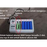 Model Charger Rechargeable 10 In 1 Cas Pengecas Baterai Aa Aaa Ni Cd Ni Mh Charger Baterai Cas Baterai Isi Ulang Baterai Remote Remote Ac Tv Baterai Mouse Game Games Alarm Jam Dinding Dll Terbaru