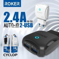 Spesifikasi Charger Roker Cyclop 2 Port 2 4A Auto Id Micro Usb Fast Charge Led Lengkap