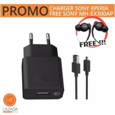 Charger Sony Xperia - Fast Charging (free Headset Sony MH-EX300AP)