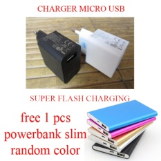 Charger Super Flash Charging 99%Free Powerbank Slim For Asus Zenfone 2Laser (ZE 551 KL)- Putih
