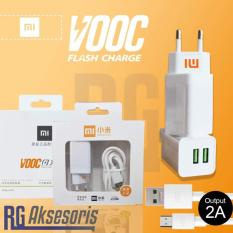 Charger XIAOMI VOOC FAST CHARGING 2Ampere 2Port Usb ORI99%