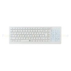 Chechang Nirkabel 2.4G Sentuh Keyboard Super Diam Hemat Daya Tinggi Panel Sentuh Sensitif E Keyboard Teknik Nyaman Cocok keyboard dengan Kompatibilitas Lebar Menunggumu! (Putih)-Internasional