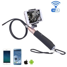 Chechang Nirkabel Endoskopi-iPhone Android WIFI Borescope Video Inspection Kamera. 2 Juta Piksel HD Ular Kamera Anti-Air USB HD 720 P 6 LED Endoskopi Industri untuk Android/Jendela/IOS (1 M) -Internasional