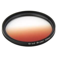 CHEER Universal 58mm Filter Circo Mirror Lens Gradient UV untuk DSLR Lensa Kamera Brown