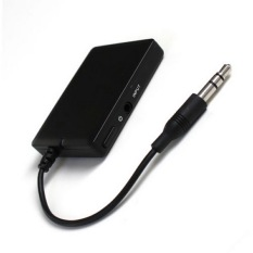 Jual Sorak Sorai Nirkabel Bluetooth A2Dp 3 5Mm Stereo Hi Fi Audio Usb Dongle Pemancar Hitam Tiongkok