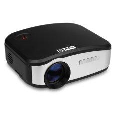 Cheerlux C6 Mini LED Proyektor 800x480 1200lm EU Plug (hitam)-Intl