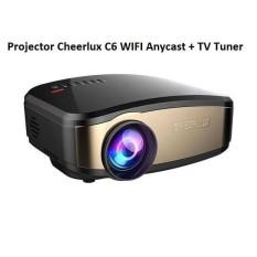 Cheerlux C6  Projector WIFI Anycast + TV Tuner Teknologi Terbaru