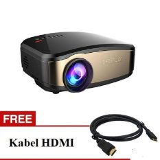 Cheerlux Mini LED Projector C6 Wifi Mini Proyektor + Tv Tunner vs uc46 EUG600d