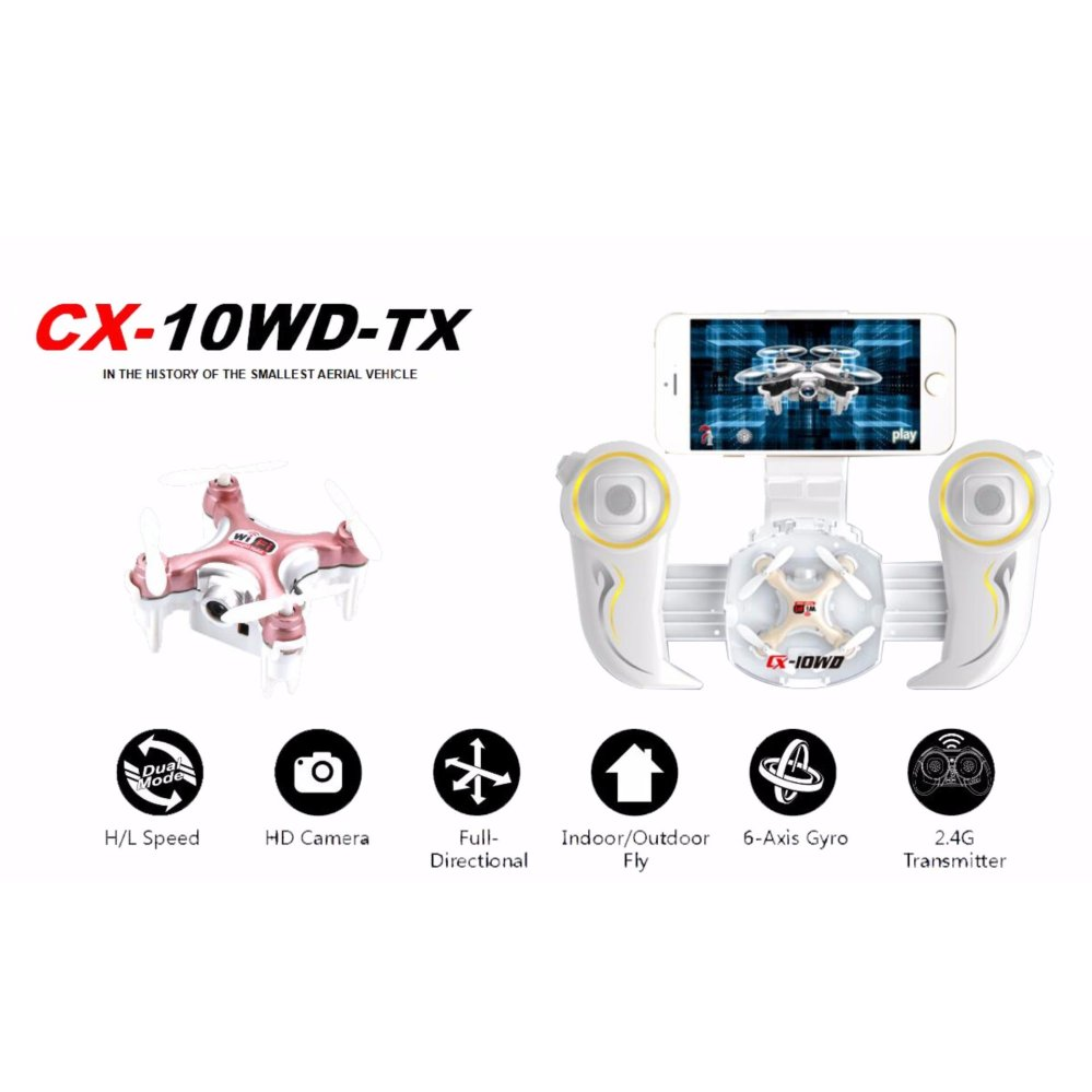 Cheerson CX - 10WD + TX Nano Quadcopter 4 Channel 6 Axis Gyro 2.4G RC Quadcopter with Hovering Function - Gold