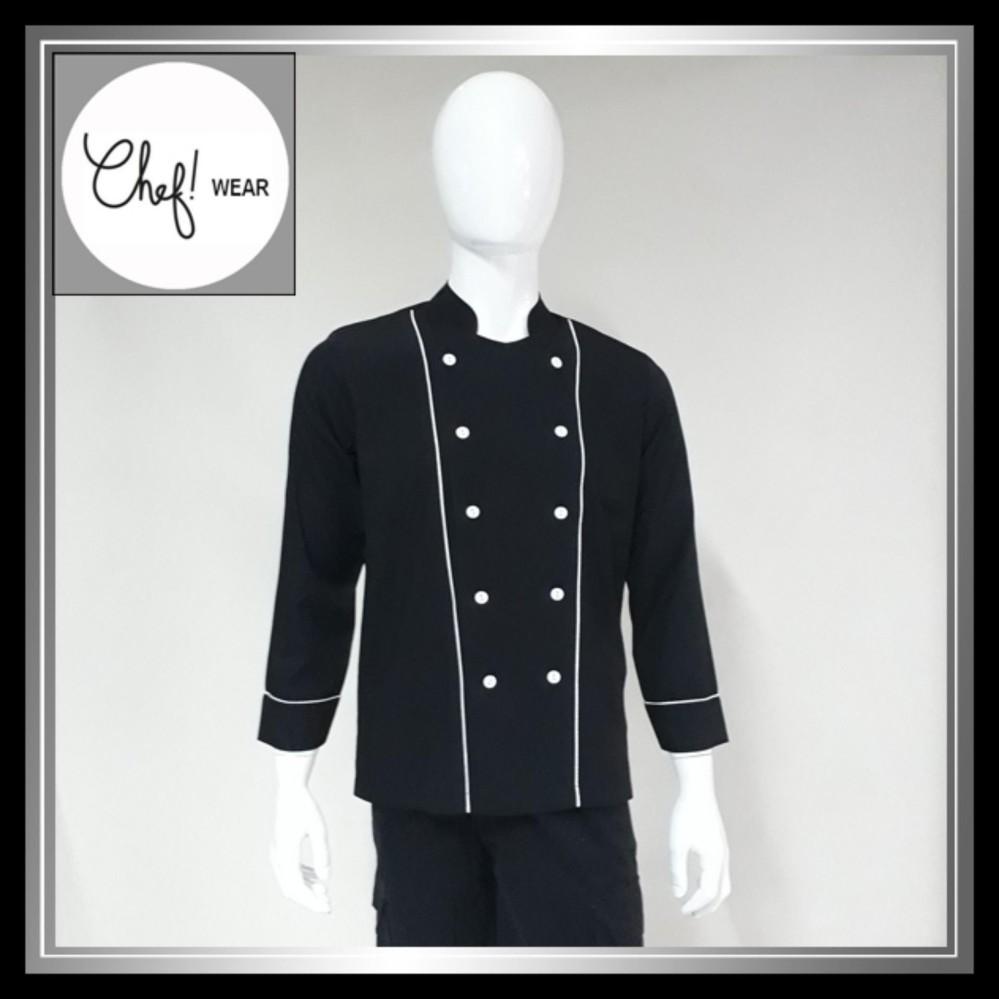 Harga Chef Wear Baju Koki Hitam Lengan Panjang S Xxl Seken