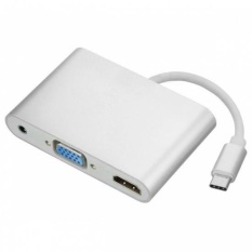 CHENYANG Combo USB-C USB 3.1 Type C to HDMI Digital AV & VGA& 3.5mm Audio Adapter for Laptop & Notebook - intl