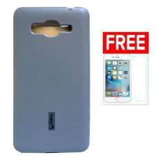Cherry Silicon Case Plus Glass Lenovo S880 - Abu abu