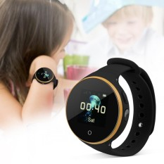 Child Watch SOS LBS+GPS+AGPS Positioning Tracker Kid Safe Anti-Lost Smart Wristband (Black) - intl