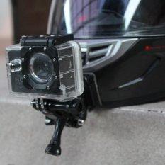 Review Chin Mount Helm Motovlog Mounting Dagu Curved For Gopro Xiaomi Bpro Ccc Di Banten