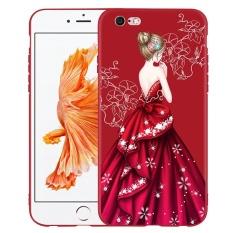 Merah China Rok Dress Lady Phone Case untuk Apple IPhone 7 Soft Silicone Drop Resistance Back Cover Perlindungan Ponsel Funda 4.7 Inch-Intl