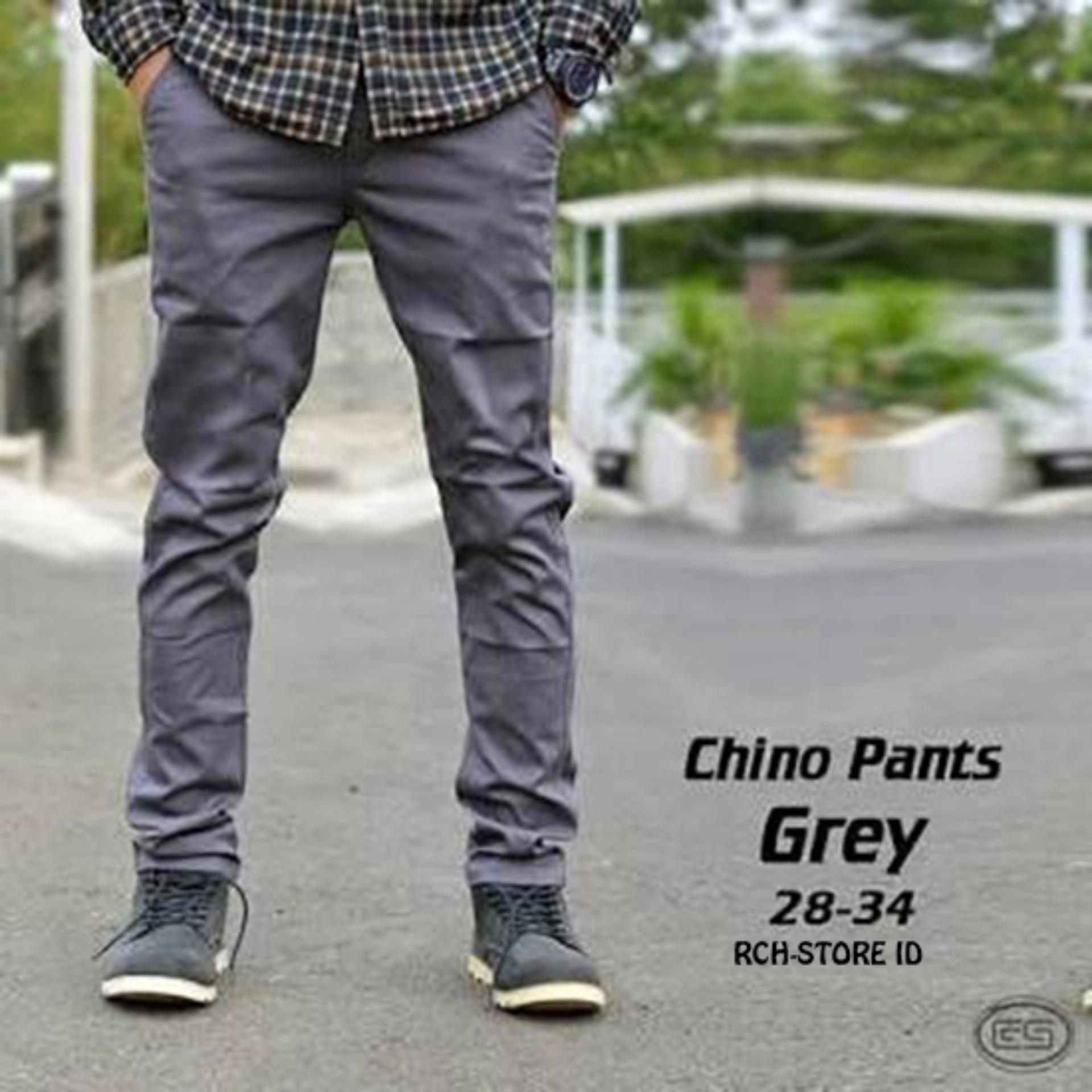 Chino Pants Skinny Grey Pria Premium Best Seller Bms Clothing Diskon 50