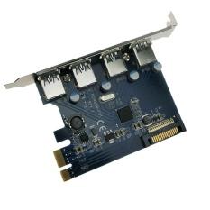 Jual Beli Chip Fresco Fl1100 4 Port Usb 3 Pci E Pci Express Controller Kartu Adaptor Internasional Baru Tiongkok