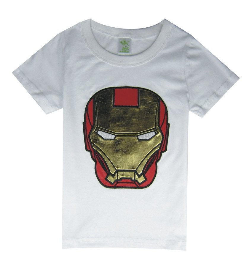 Tips Beli Chloe S Clozette T Shirt Superhero Iron Man Putih