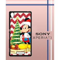 Christmas Mickey Mouse Q0219 Casing Custom Hardcase Hp Sony Xperia T3 Case Cover RH5V