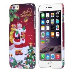 Hari Natal Santa Klausa Hadiah Kulit Case Sarung untuk iPhone 6 S 4.7 Inch-Internasional
