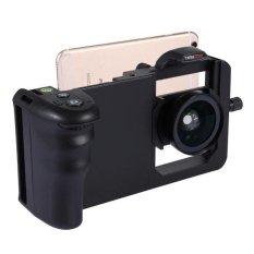 Beli Cinema Gunung Profesional Smartphone Stabilizer Rig Gunung Dengan Grip Dan 45 X Lensa Makro Super Wide Angle Untuk Smartphone Hitam Online Terpercaya