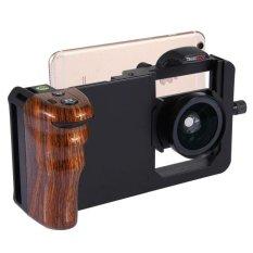 Toko Cinema Gunung Profesional Smartphone Stabilizer Rig Gunung Dengan Grip Dan 45X Lensa Makro Super Wide Angle Untuk Smartphone Brown Intl Online